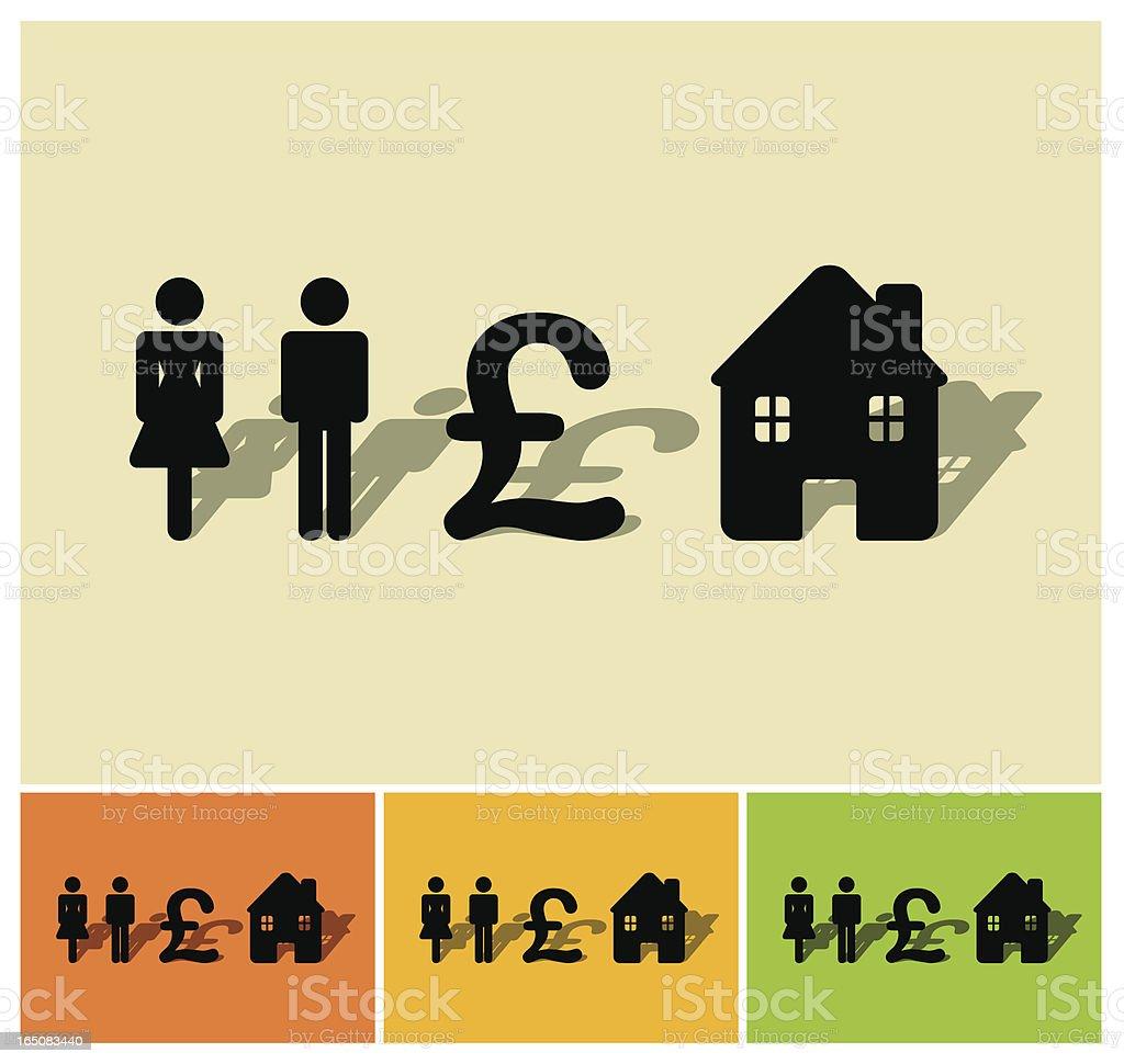 Real estate formula royalty-free stock vector art