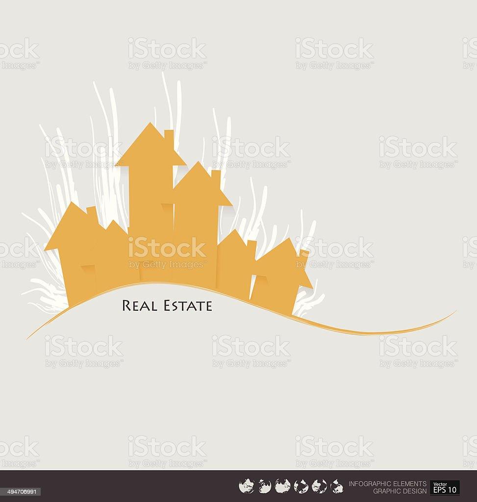 Real Estate House. Vector illustration. vector art illustration