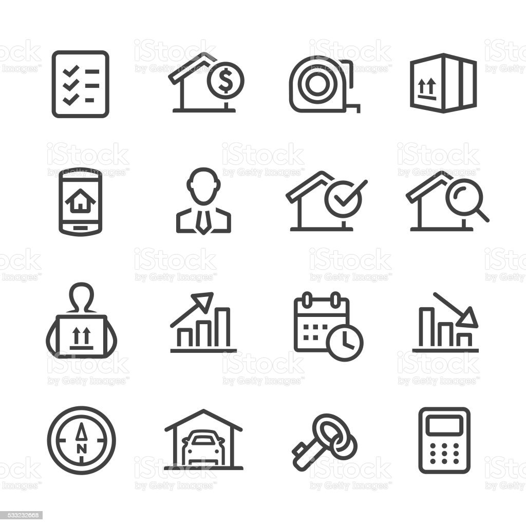 Real Estate Icon - Line Series vector art illustration