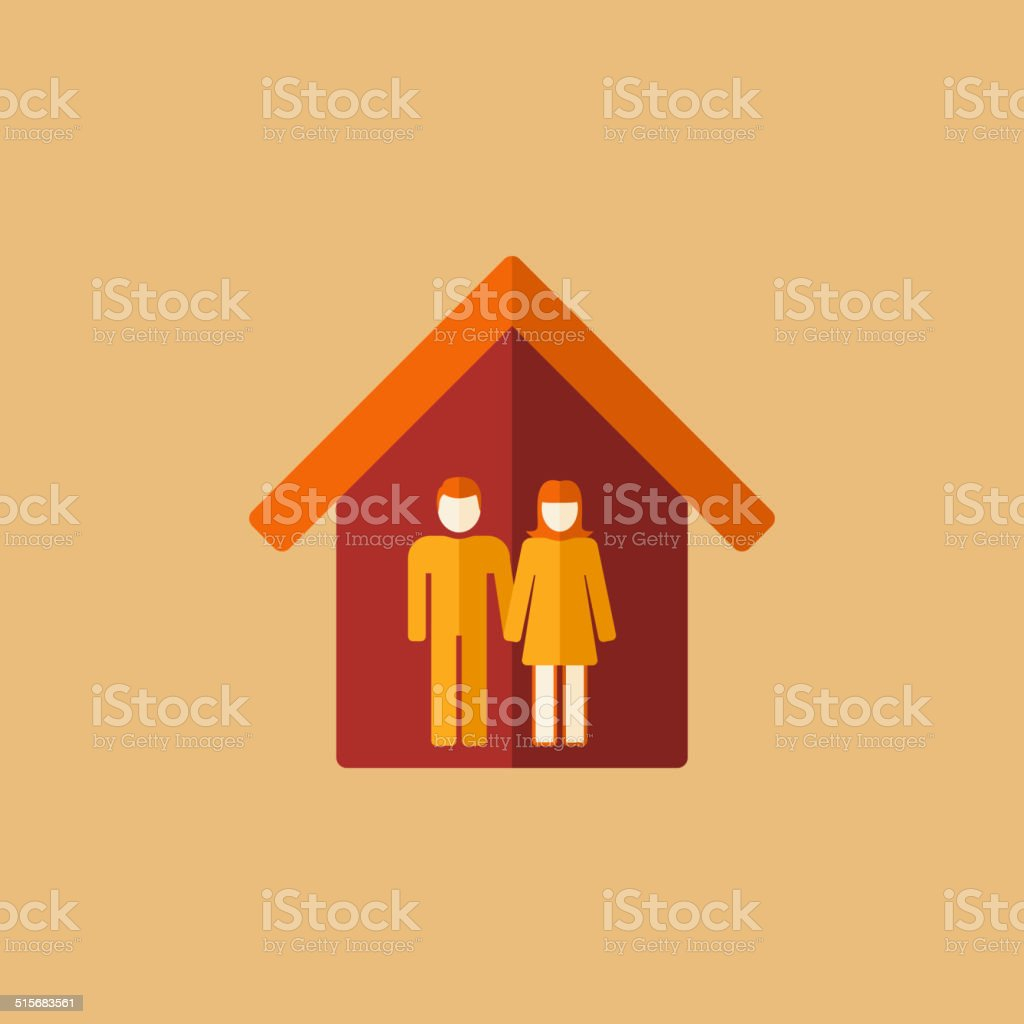 Real Estate Icon. vector art illustration