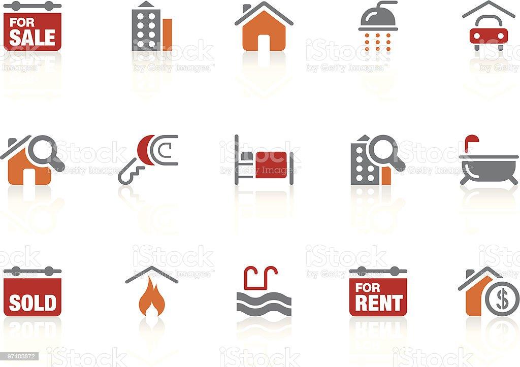Real Estate icons   Alto series vector art illustration