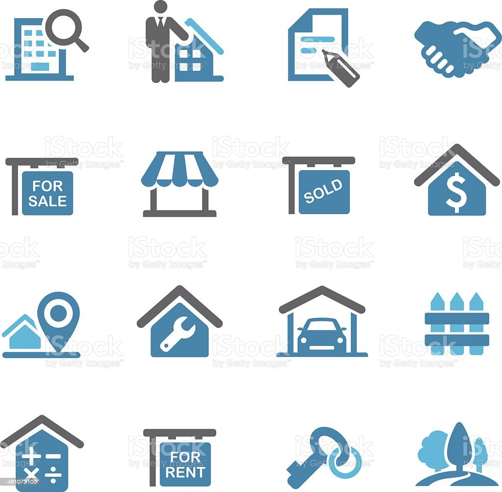 Real Estate Icons - Conc Series vector art illustration