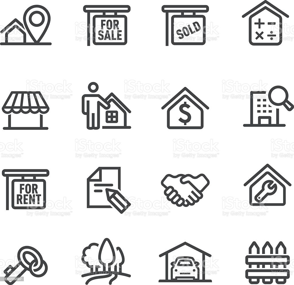 Real Estate Icons - Line Series vector art illustration
