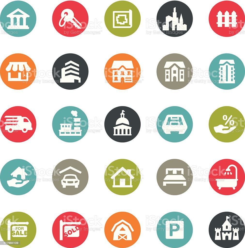 Real Estate icons / Ringico series vector art illustration