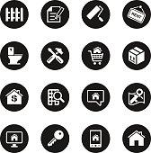 Real Estate Icons Set 2 - Black Circle Series
