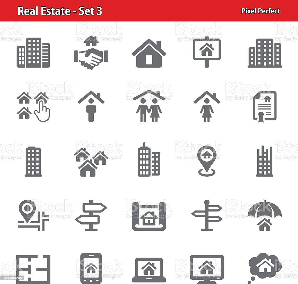 Real Estate Icons - Set 3 vector art illustration