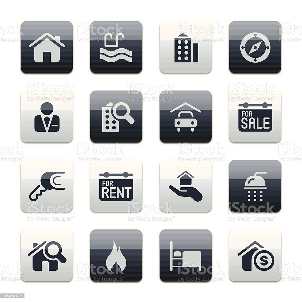 Real estate icons | spark* series royalty-free stock vector art