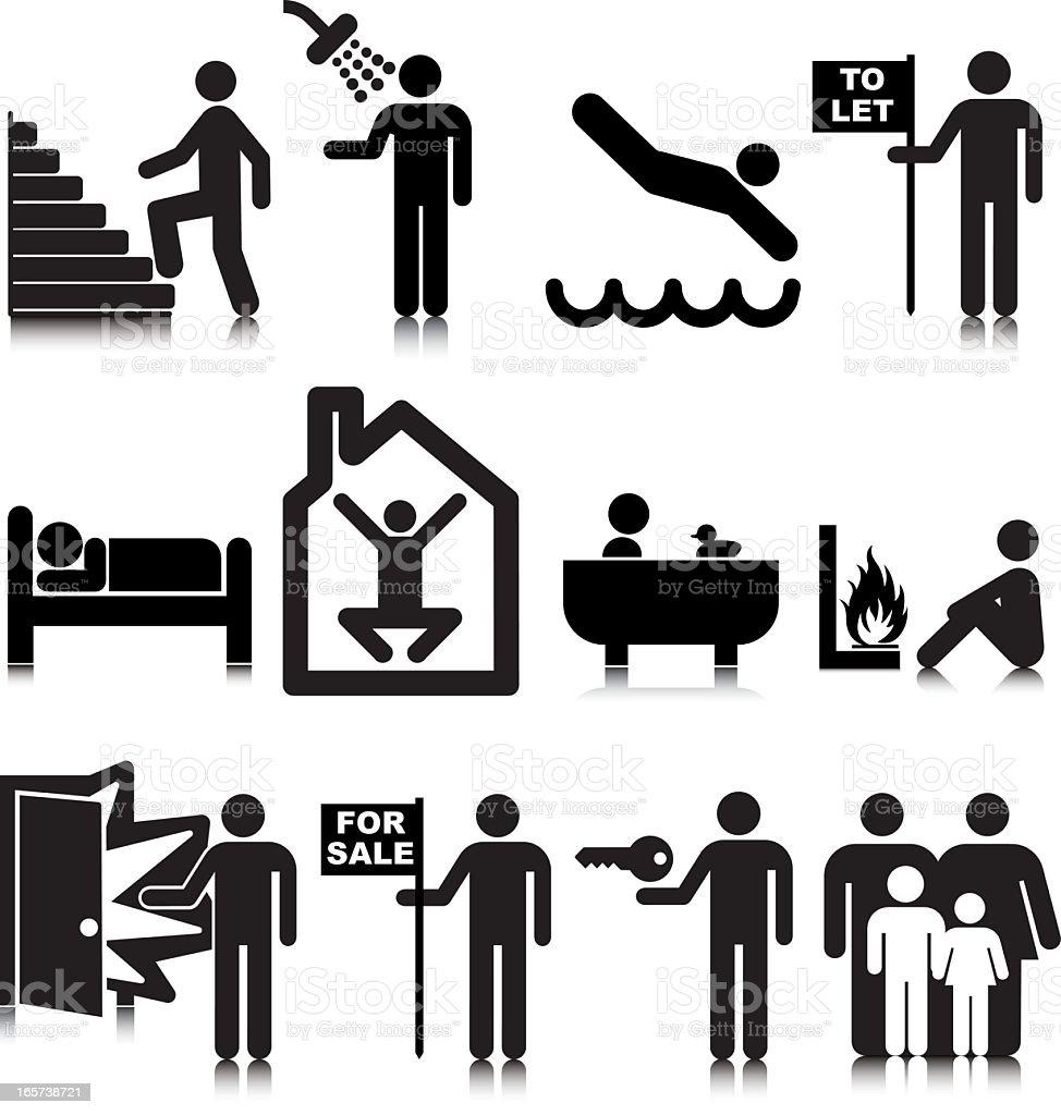 Real Estate Icons – Standard vector art illustration