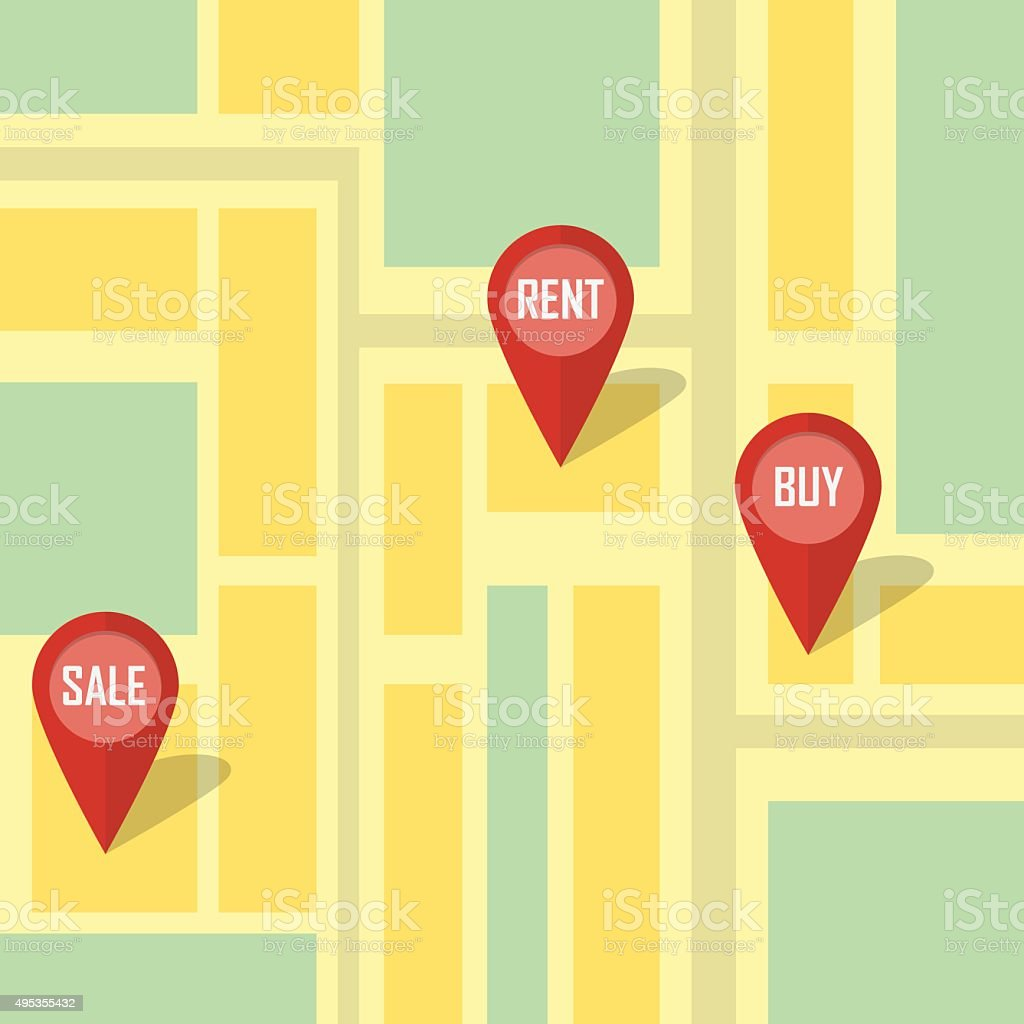 Real estate infographic pointing. vector art illustration