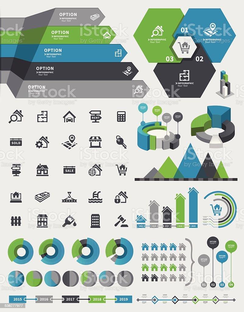 Real Estate Infographic vector art illustration