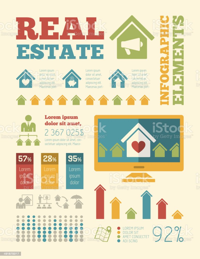 Real Estate Infographics. royalty-free stock vector art