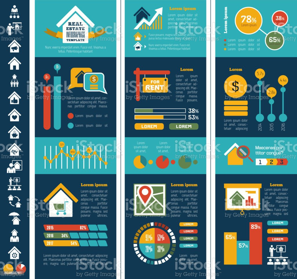 Real Estate Infographics. vector art illustration