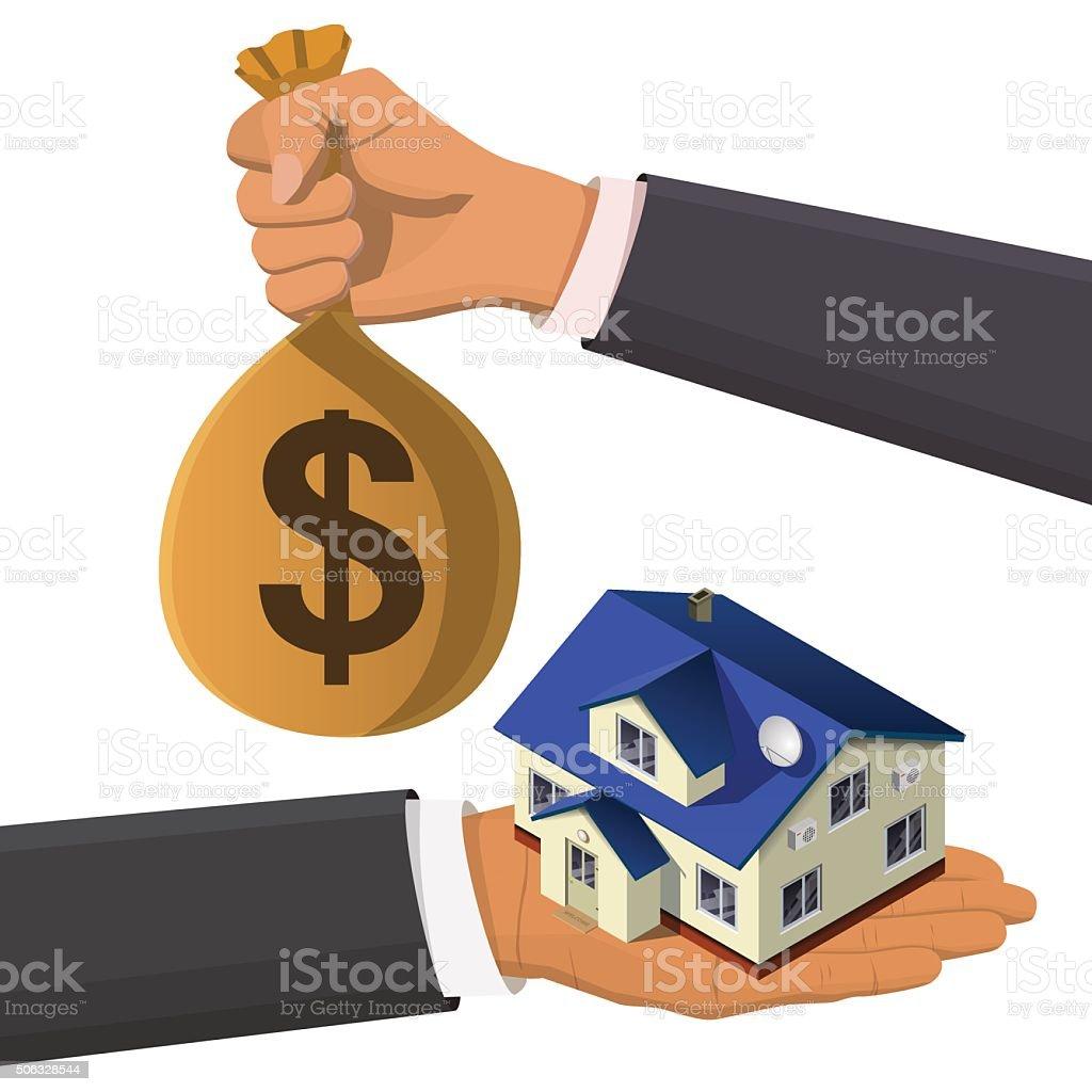 real estate isometric concept vector art illustration
