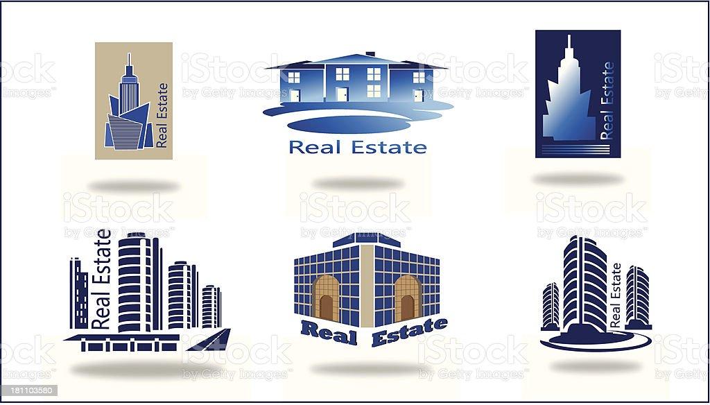 Real estate logo , eco home . royalty-free stock vector art