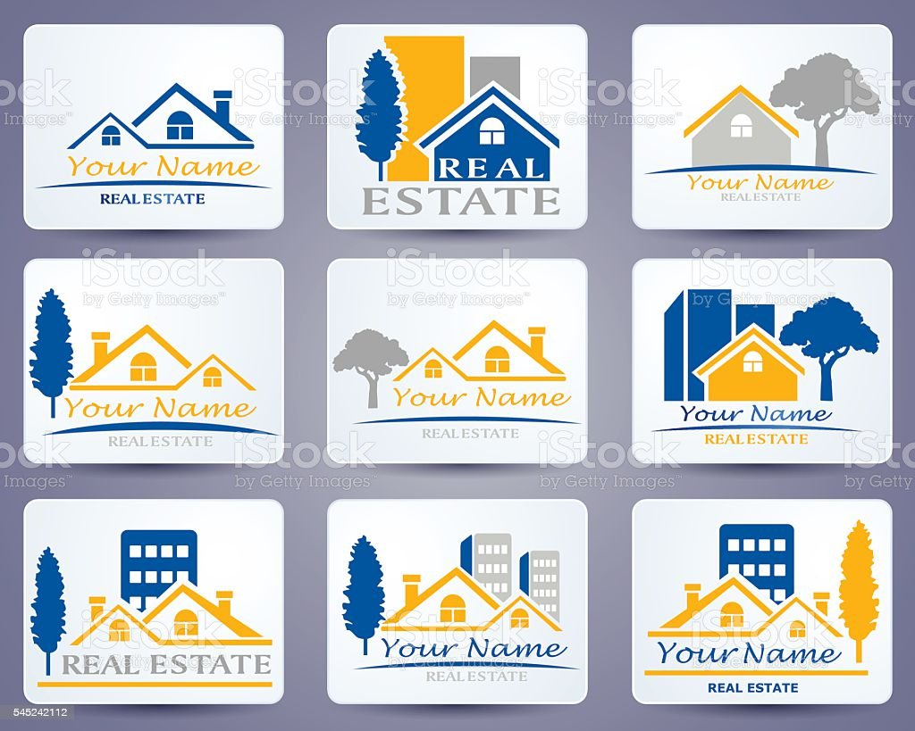 Real Estate Logo vector art illustration