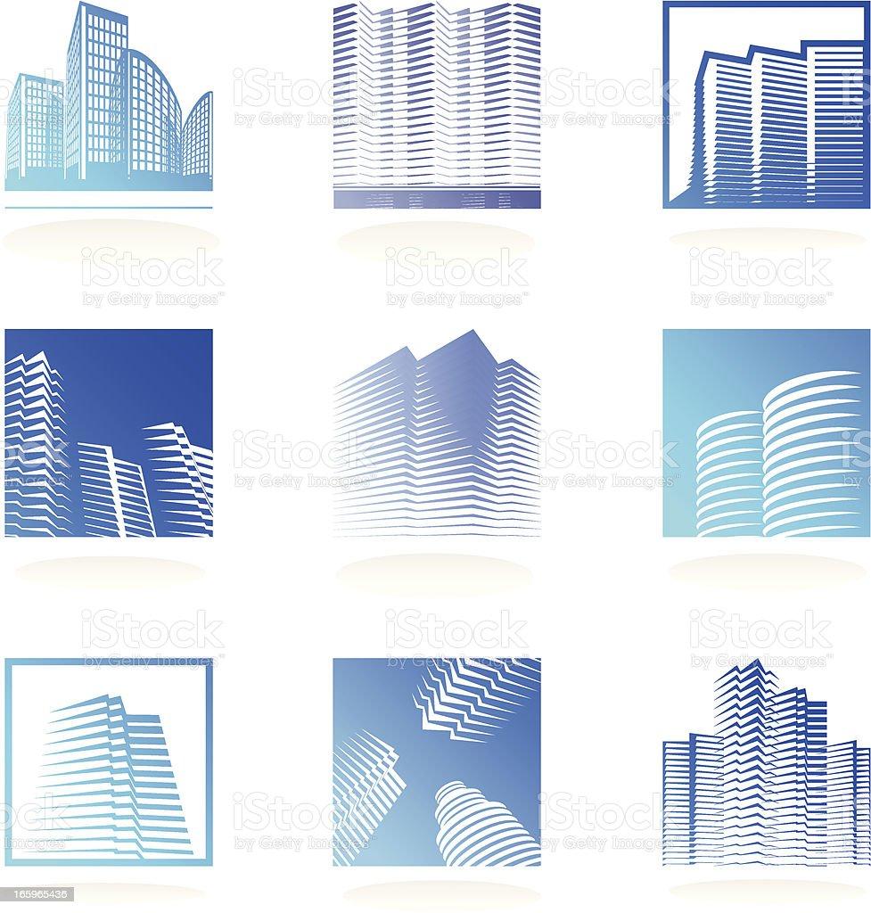 real estate logos set vector art illustration