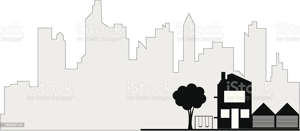 Real Estate Market ( Vector ) royalty-free stock vector art