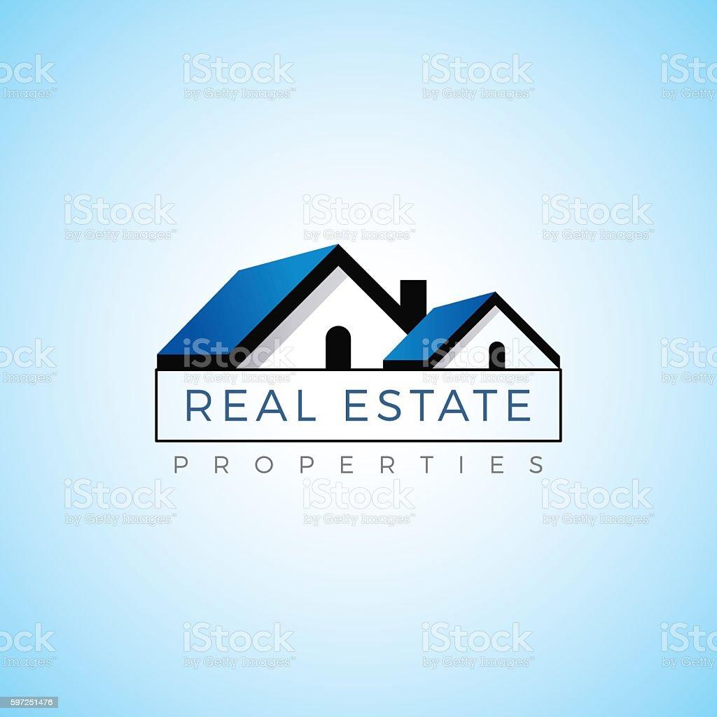 Real estate property realty logo vector template. vector art illustration