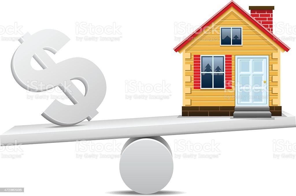 Real Estate Scale vector art illustration