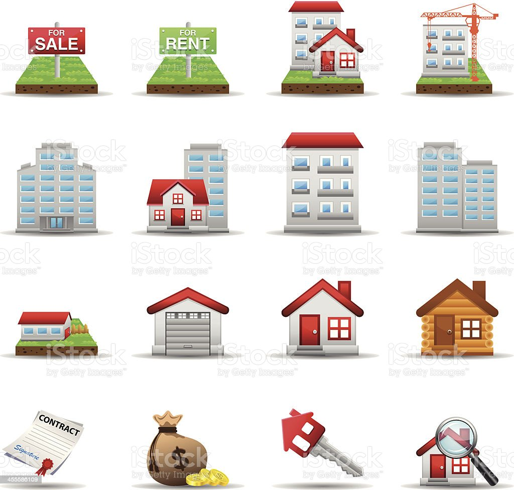 Real Estate Set2 - Color Series vector art illustration