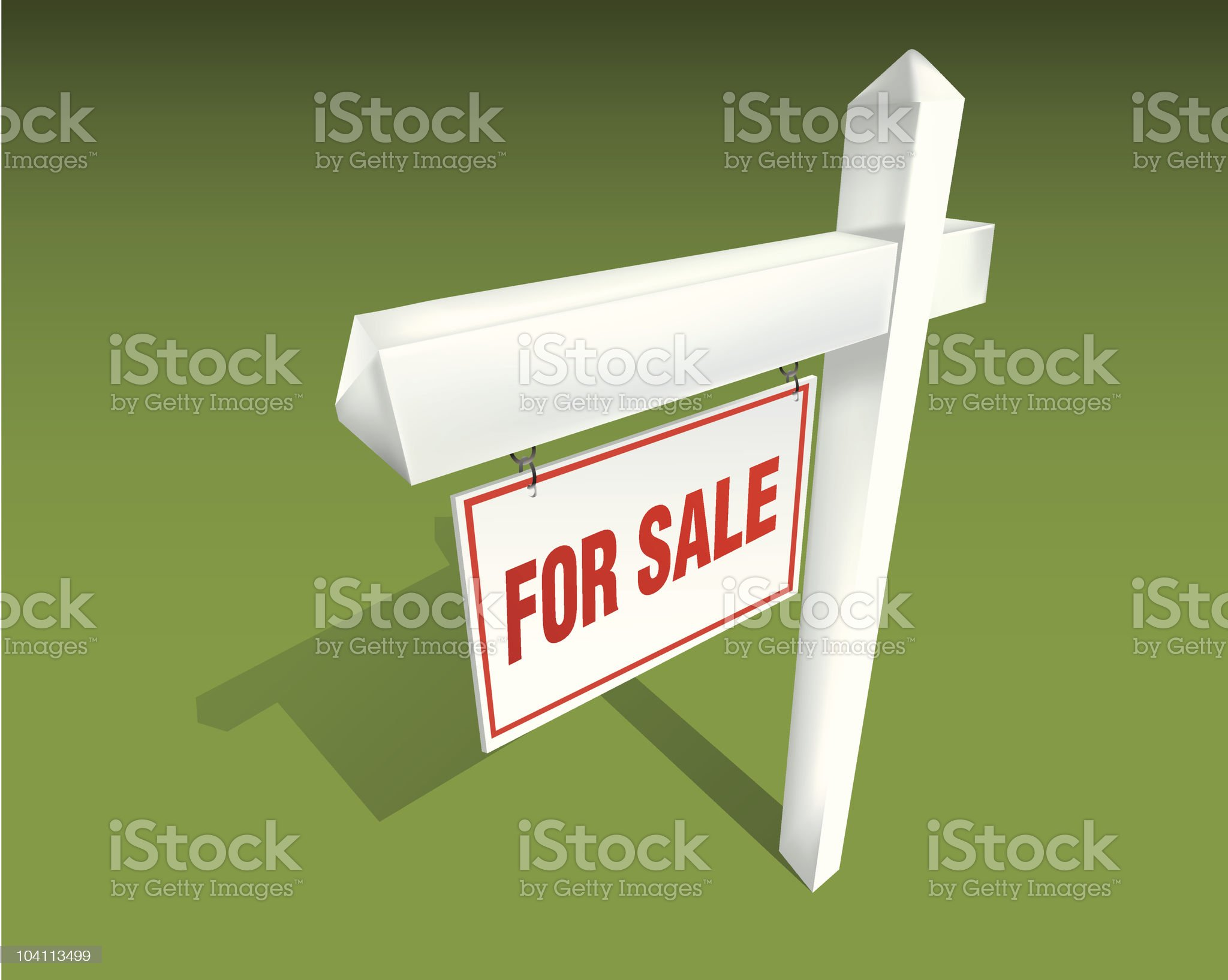 Real Estate Sign For Sale royalty-free stock vector art