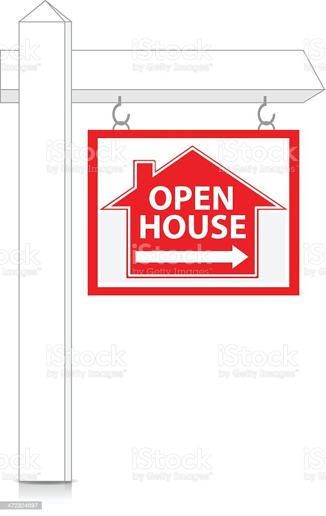 Real Estate Sign | Open House royalty-free stock vector art