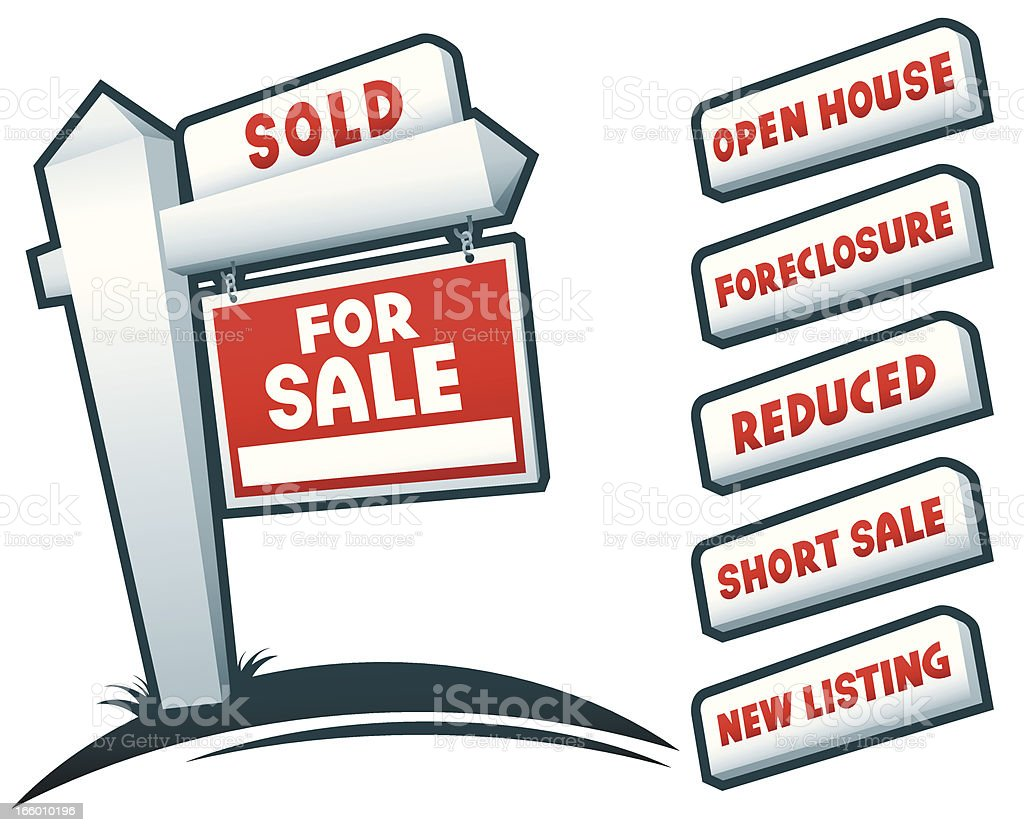 Real Estate Signs royalty-free stock vector art