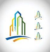 Real Estate Skyscraper Vector