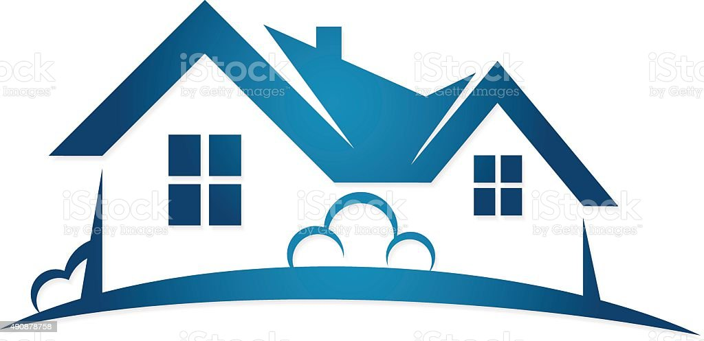 Real Estate symbol vector art illustration