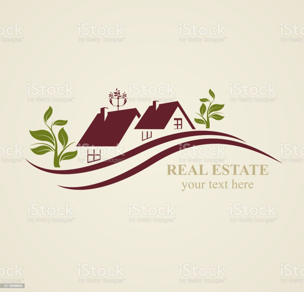 Real Estate Symbols  for Business Purposes. vector art illustration
