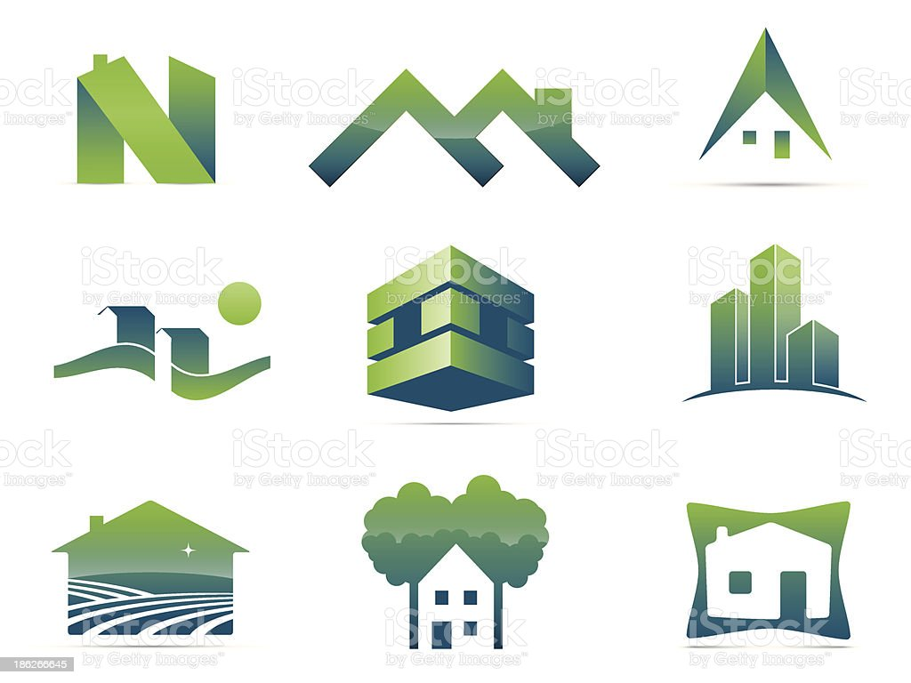 Real Estate Symbols royalty-free stock vector art