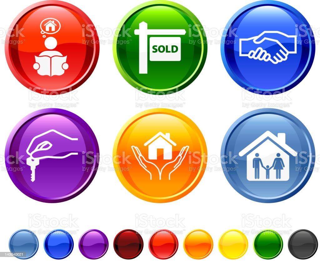 real estate transaction royalty free vector icon set royalty-free stock vector art