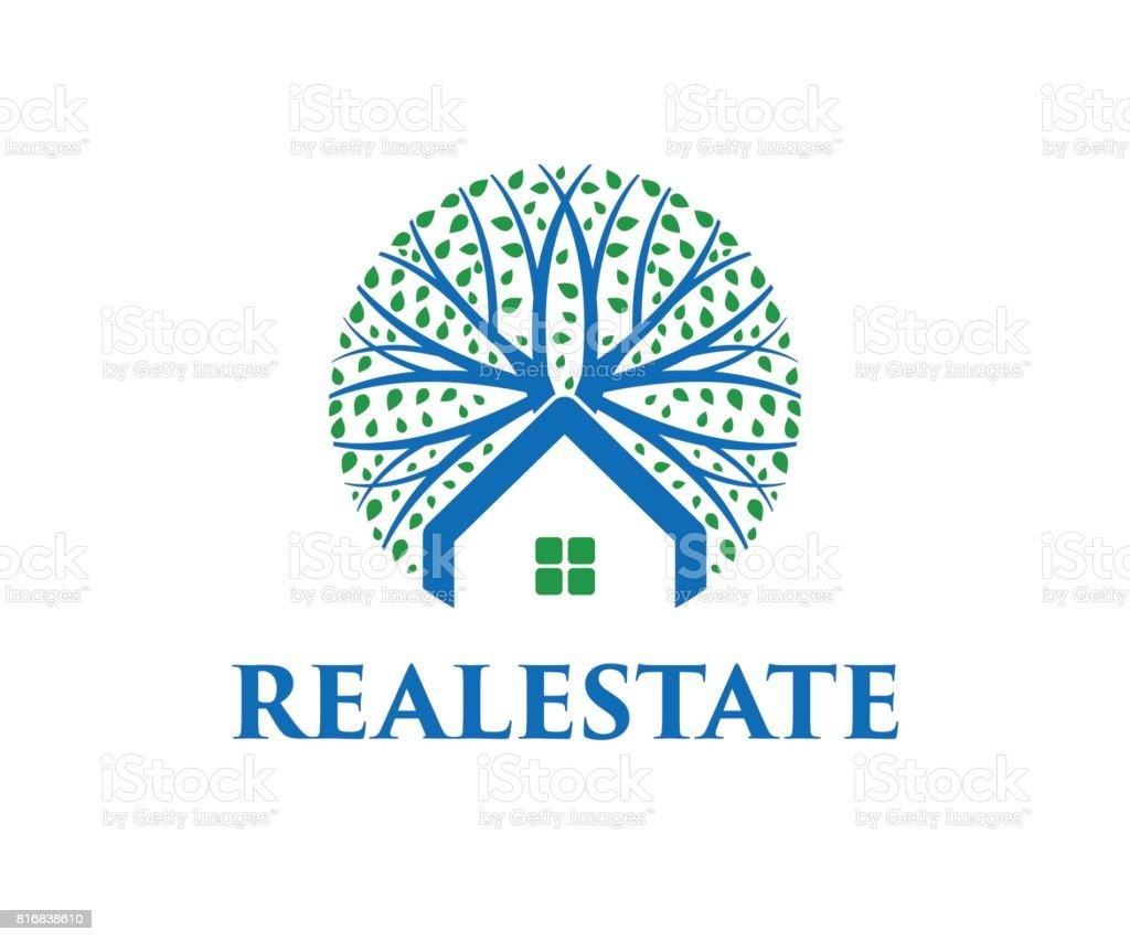 Real estate vector icon vector art illustration