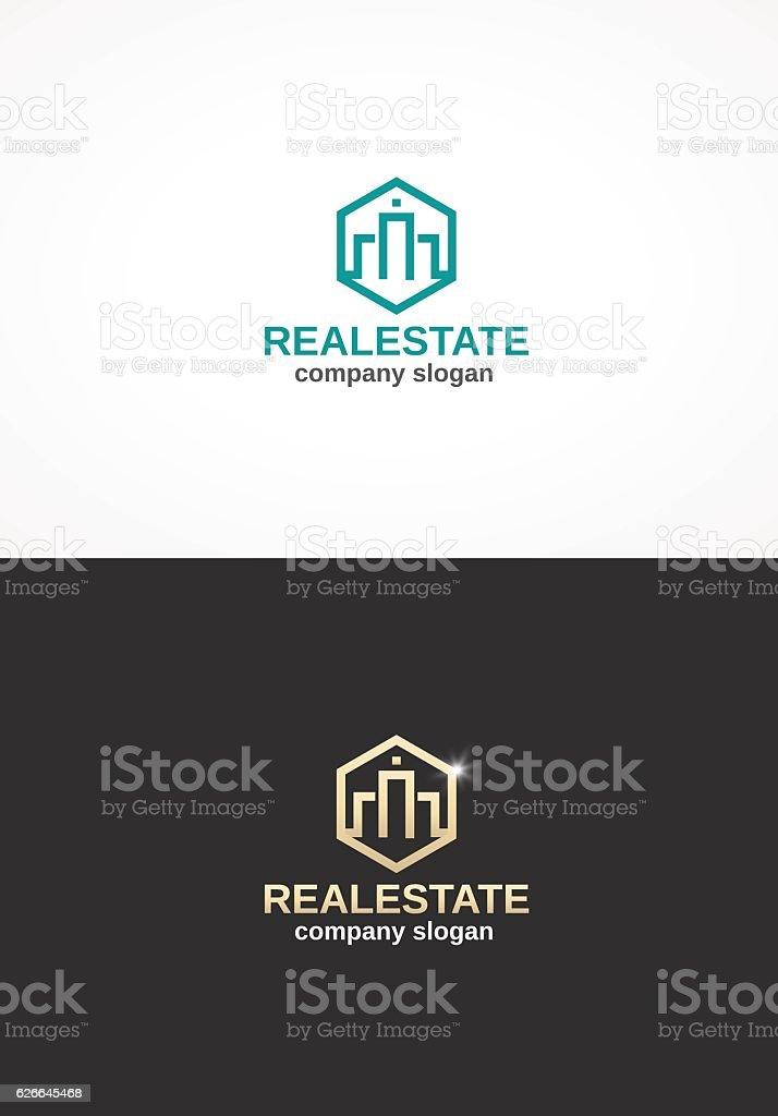Real Estate. vector art illustration
