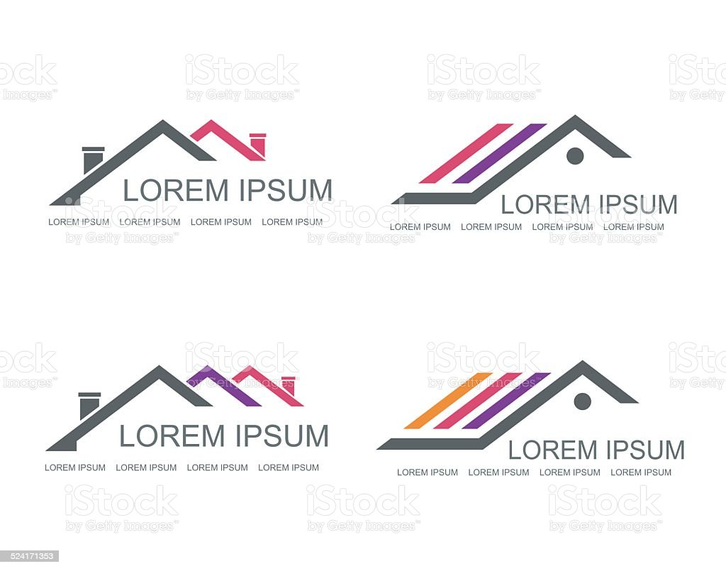 Real Estate vector logo design template. vector art illustration