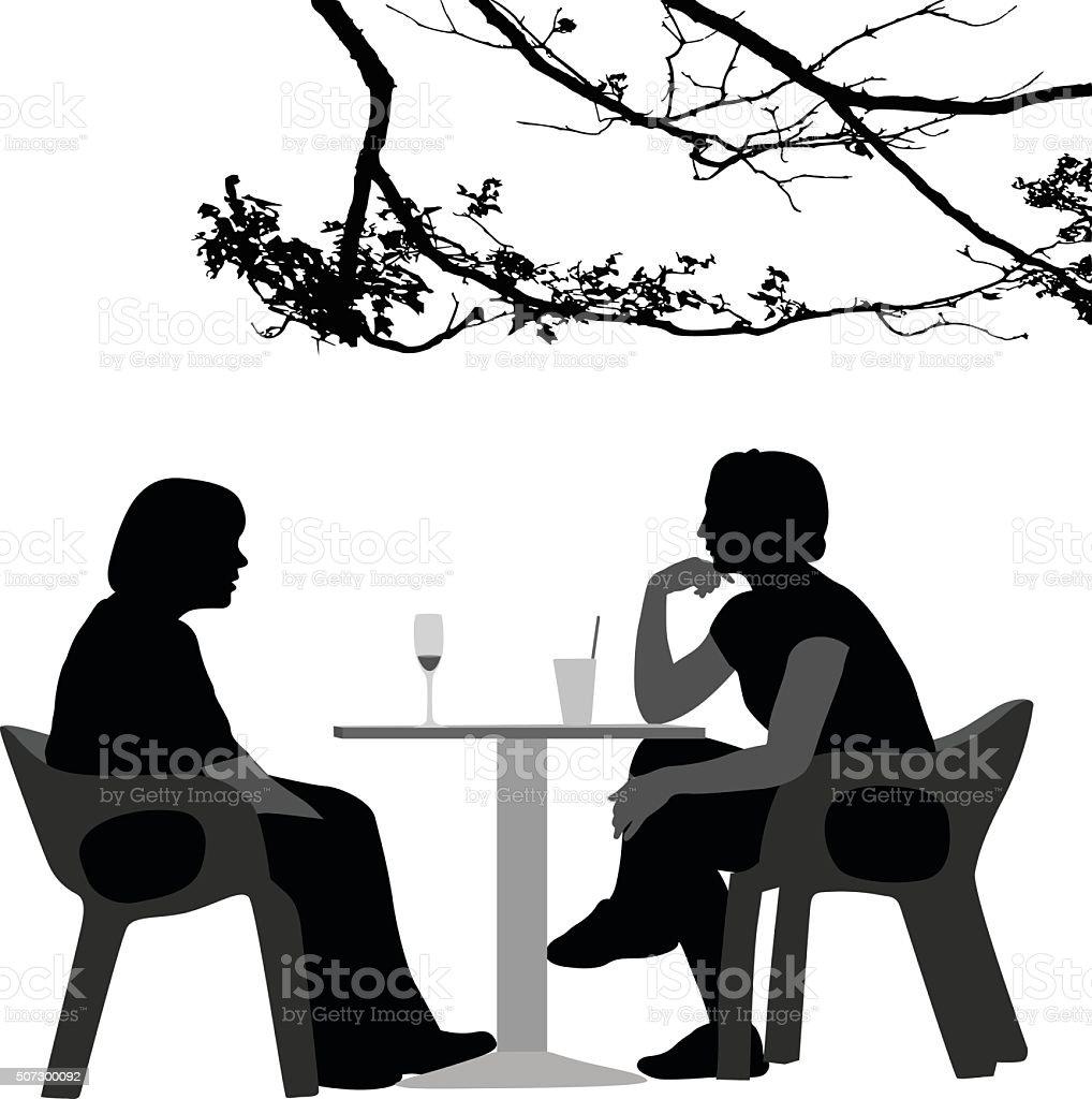 Real Good Friends Having A Drink vector art illustration