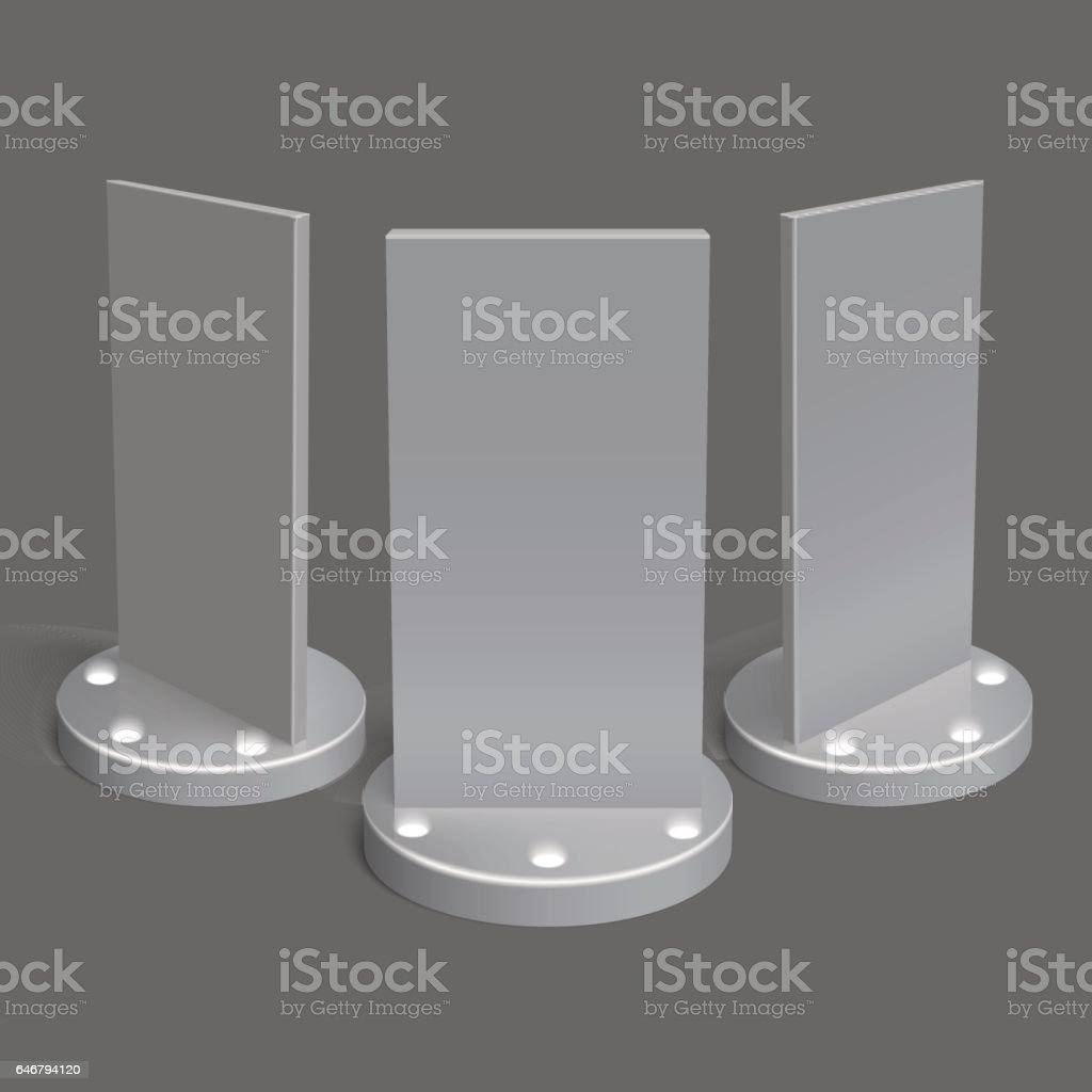Realistic 3D outdoor lightbox advertising vector art illustration