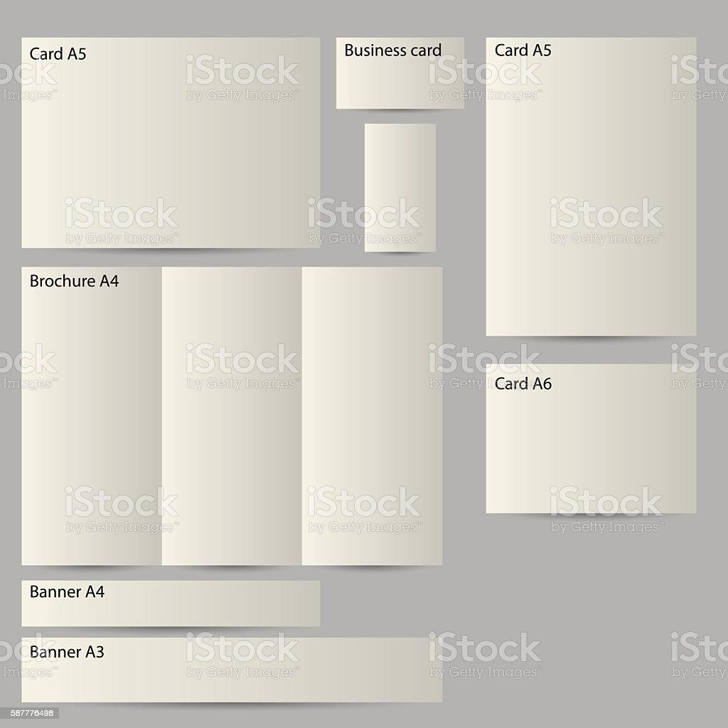 realistic 3d paper templates vector art illustration