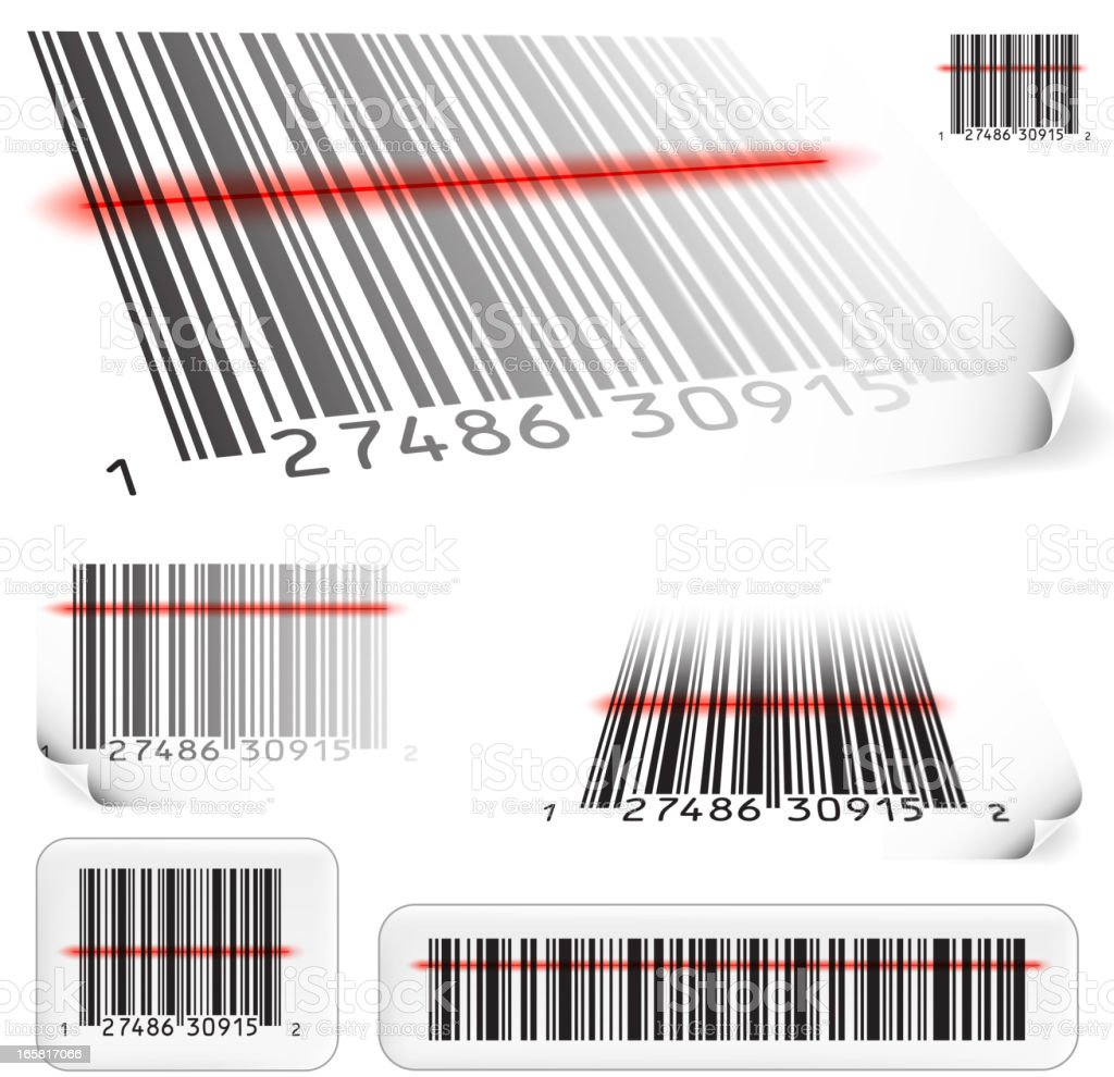 Realistic Bar-code price scan royalty free vector illustration vector art illustration