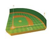 Realistic Baseball Field Illustration