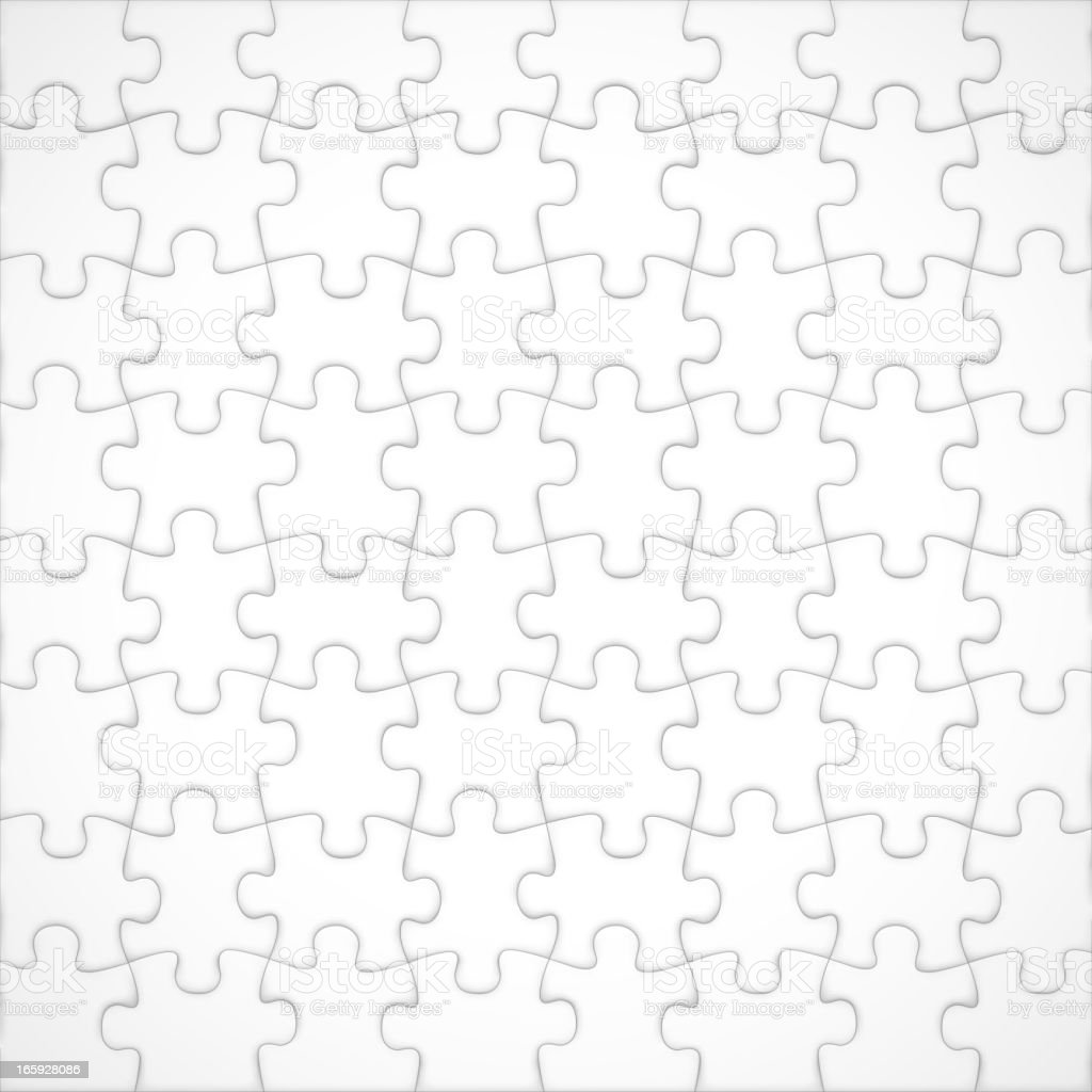 Realistic blank jigsaw puzzle royalty-free stock vector art