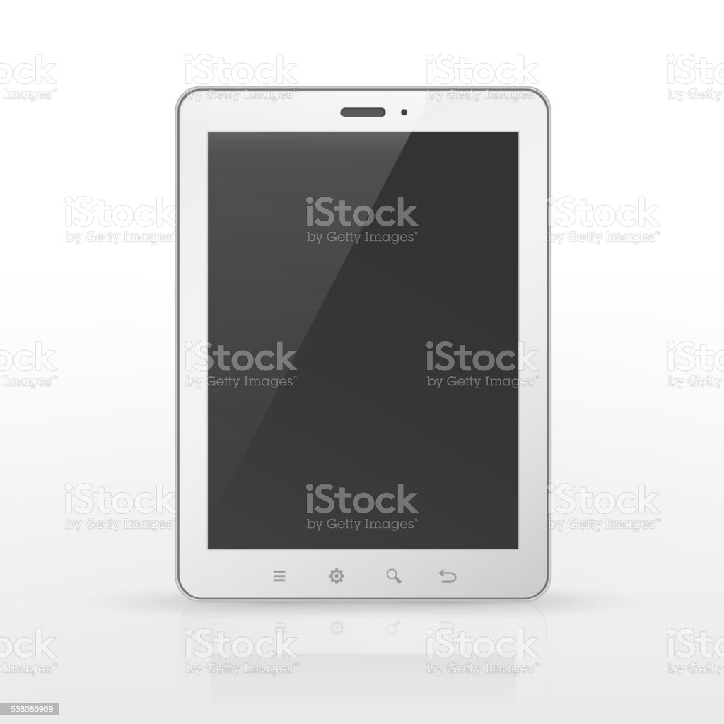 realistic blank tablet template vector art illustration