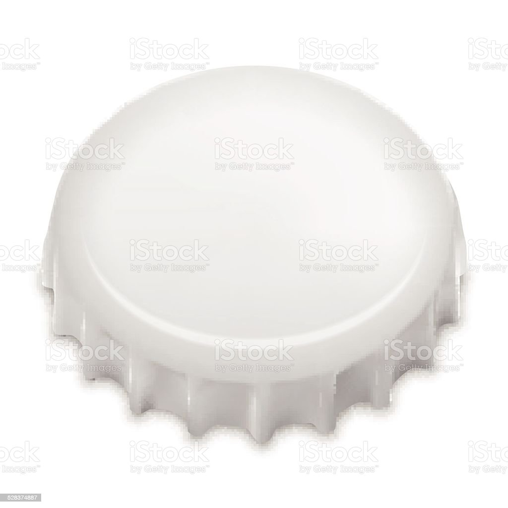 Realistic Bottle Cap On White. Vector vector art illustration