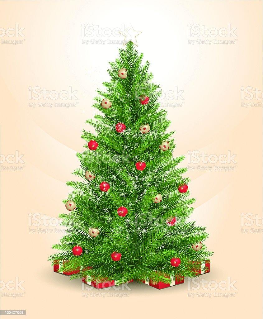 realistic Christmas tree royalty-free stock vector art