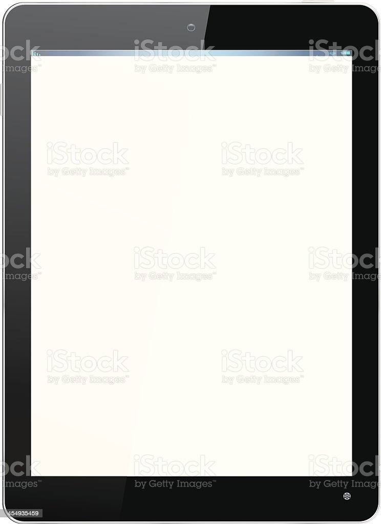 Realistic Computer Tablet in Black royalty-free stock vector art