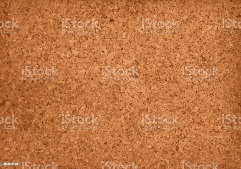 Realistic Cork Material Grunge Background vector art illustration