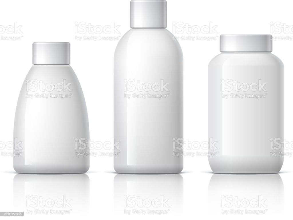 Realistic Cosmetic bottle vector art illustration
