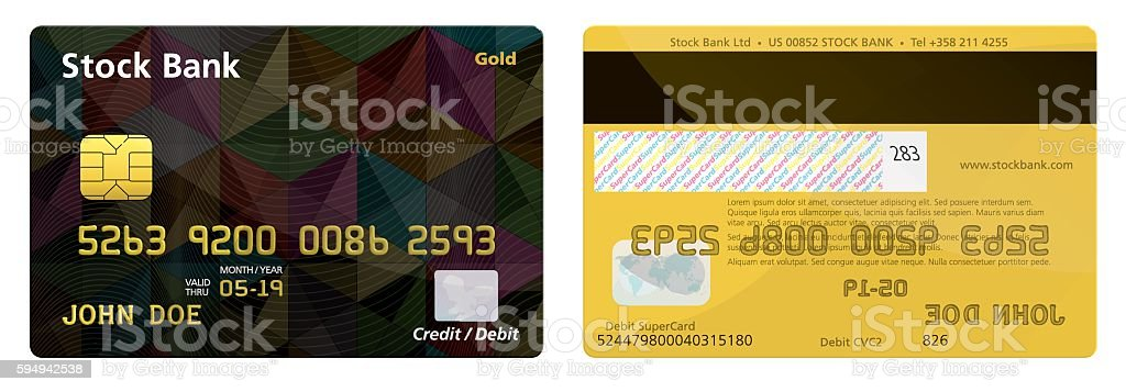 Realistic Credit Card -Illustration vector art illustration