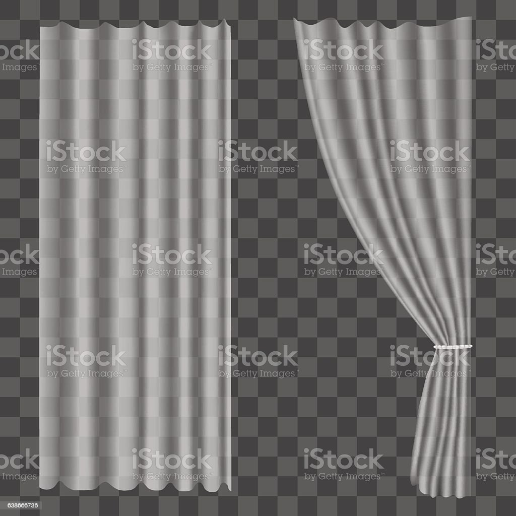white flowing curtains clip art, vector images & illustrations