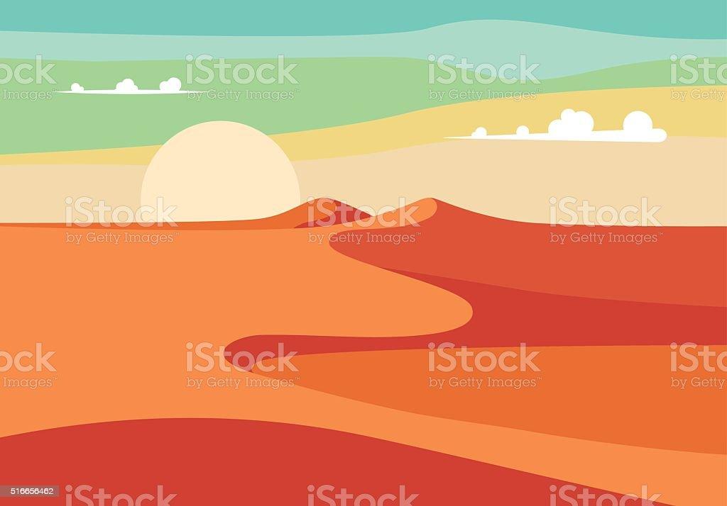 Realistic Desert Sands in Middle East. Editable Vector Illustration vector art illustration